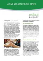 COFACE-Disability - Active Ageing for Family Carers (cover)