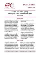 EPC - Healthy and active ageing: turning the 'silver' economy into gold (cover)