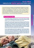 EuroHealthNet - Making the Link: Healthy Ageing and Health Equity (cover)
