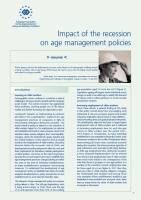 Eurofound - Impact of the Recession on Age Management Policies (cover)