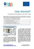 OECD - Help Wanted? Providing and Paying for Long-Term Care (cover)