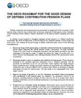 OECD - ROADMAP FOR THE GOOD DESIGN OF DEFINED CONTRIBUTION PENSION PLANS